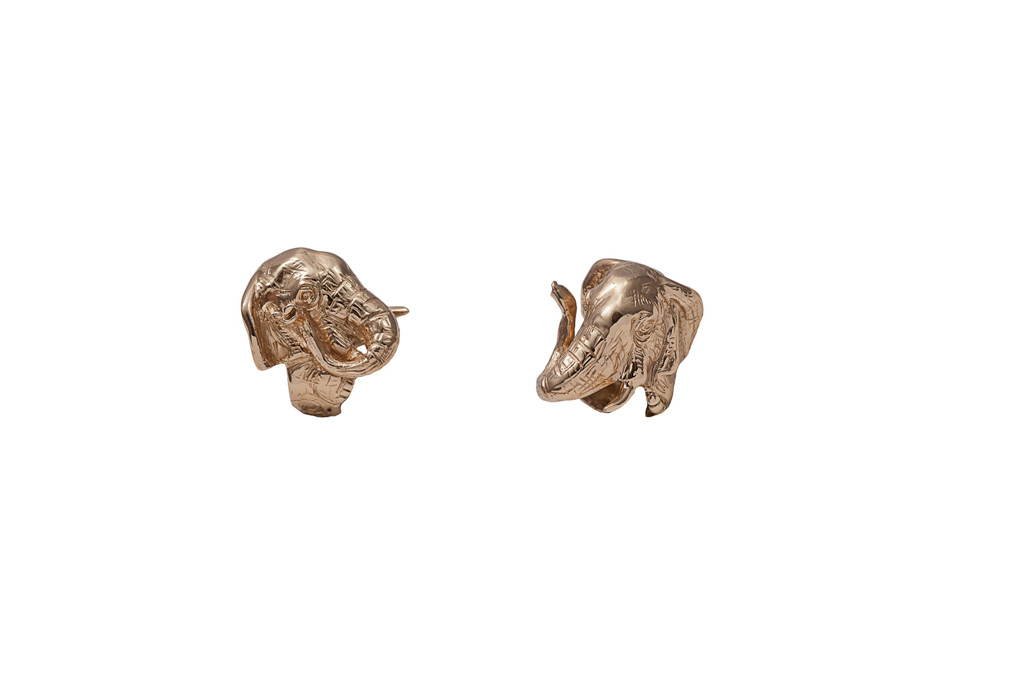 Bronze elephant ring