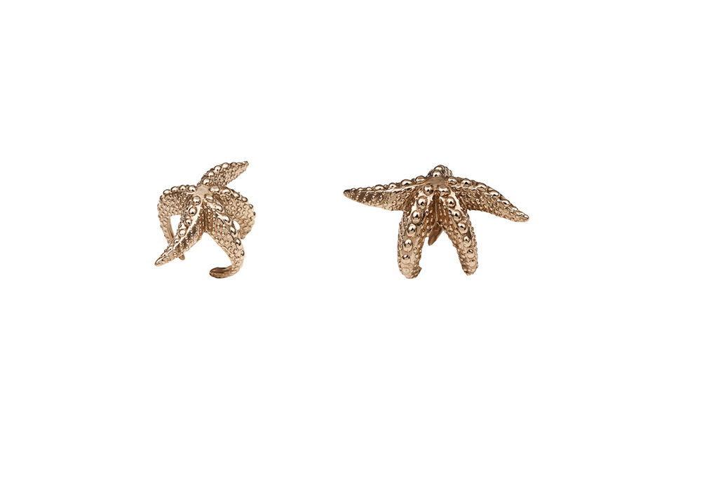 Star fish bronze ring