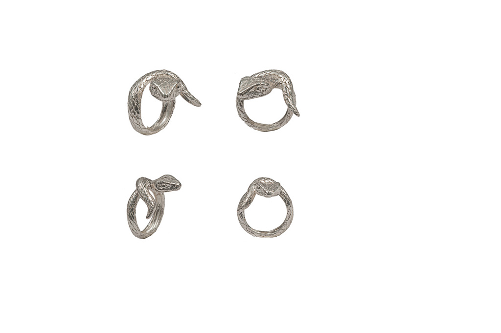 Small snake silver ring / Big snake silver ring