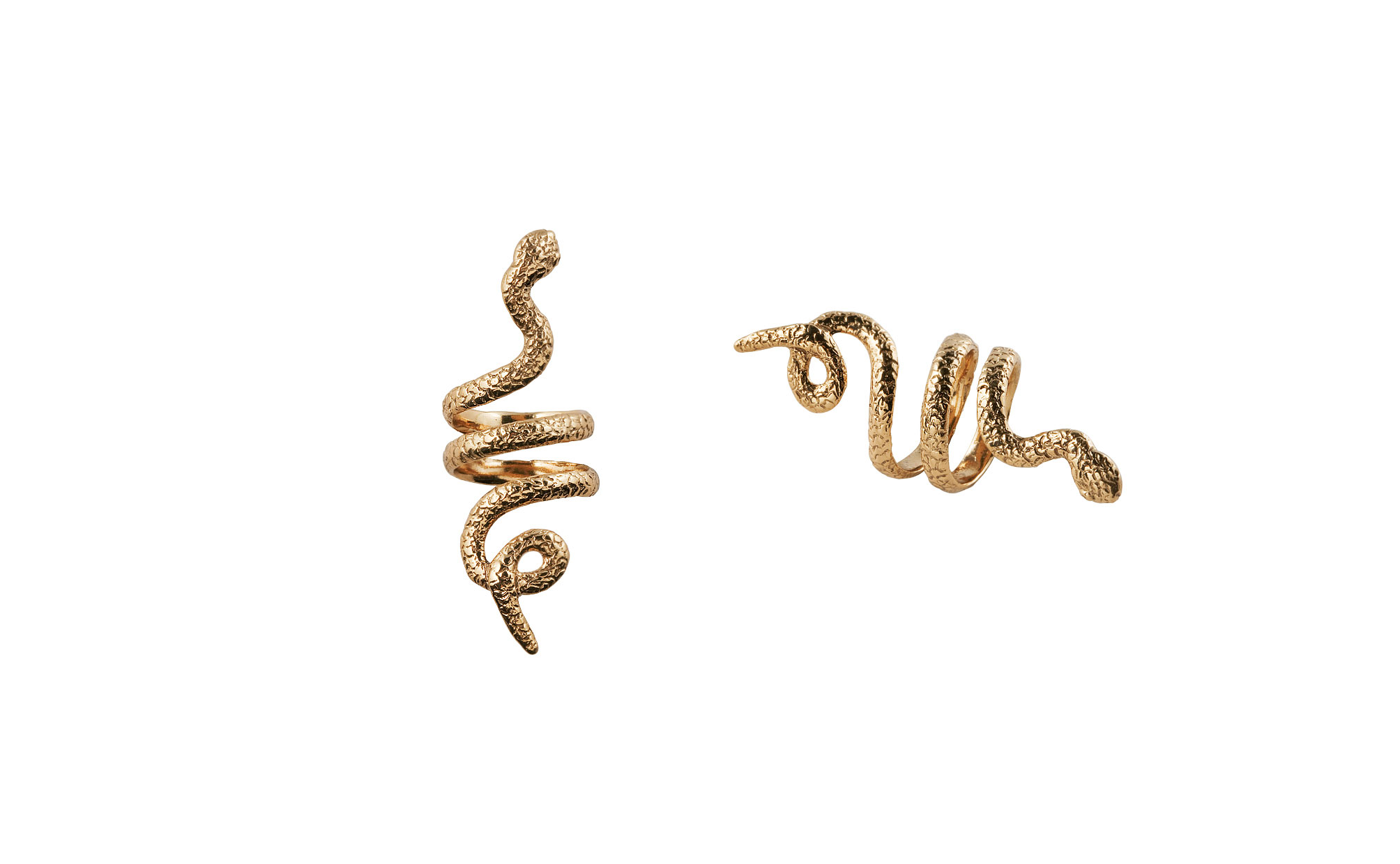 Bronze coiled snake ring