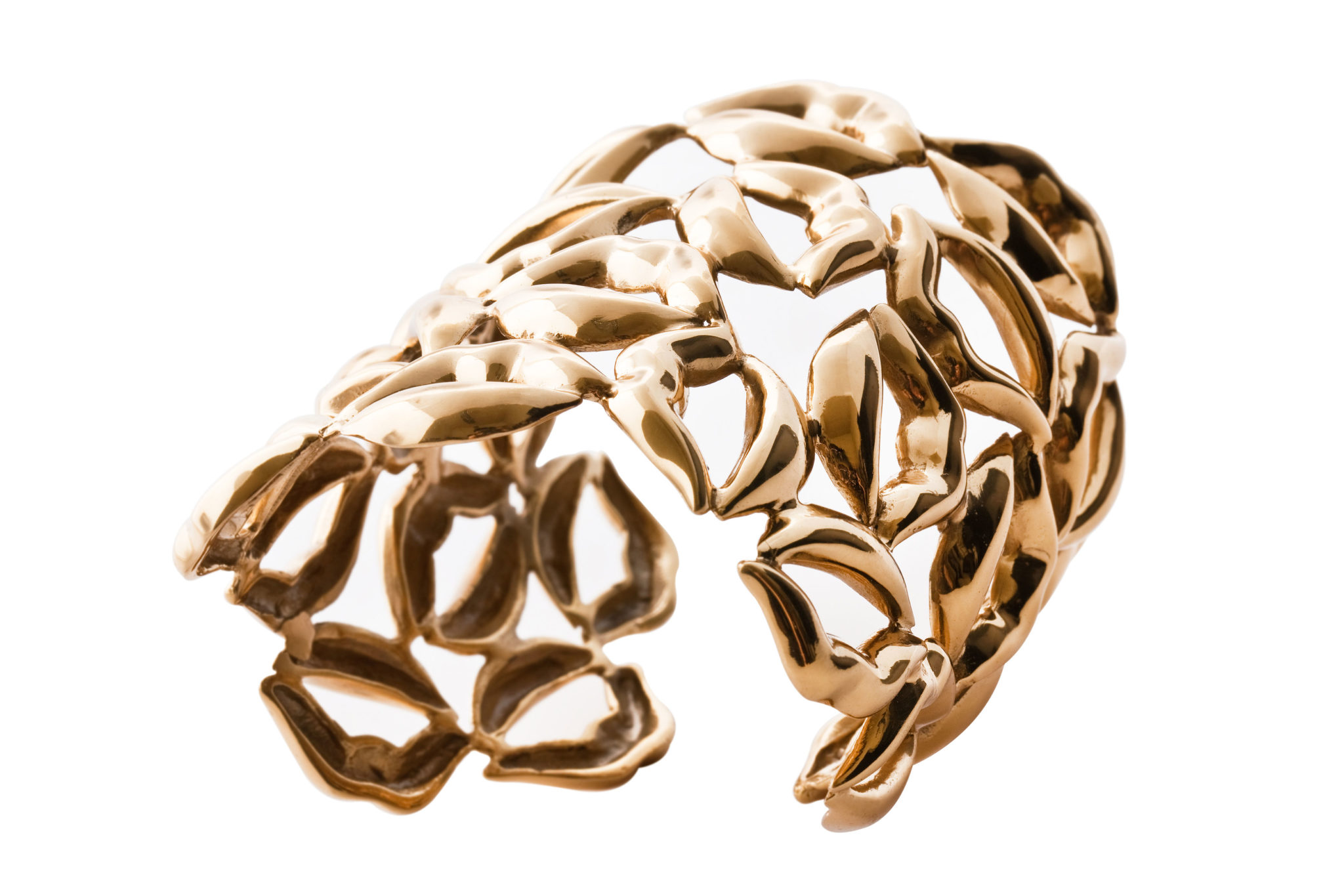 Multi lips brass cuff bracelet