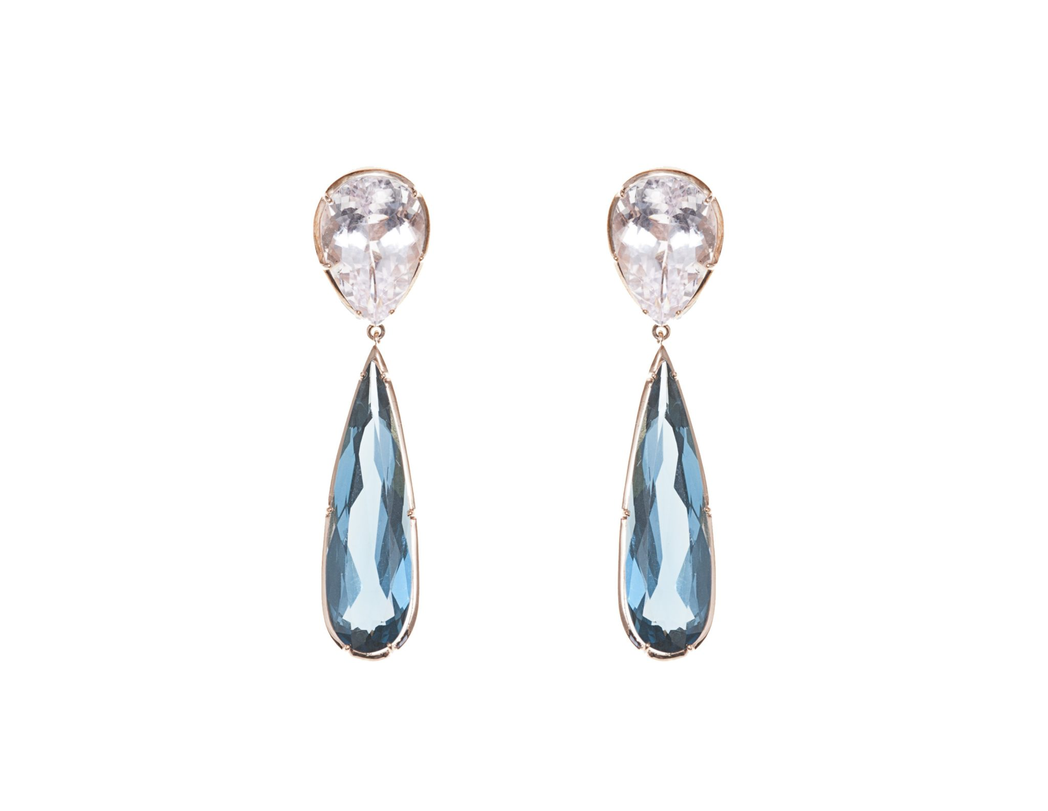 aquamarine goods earrings raw amet kunzite discovered