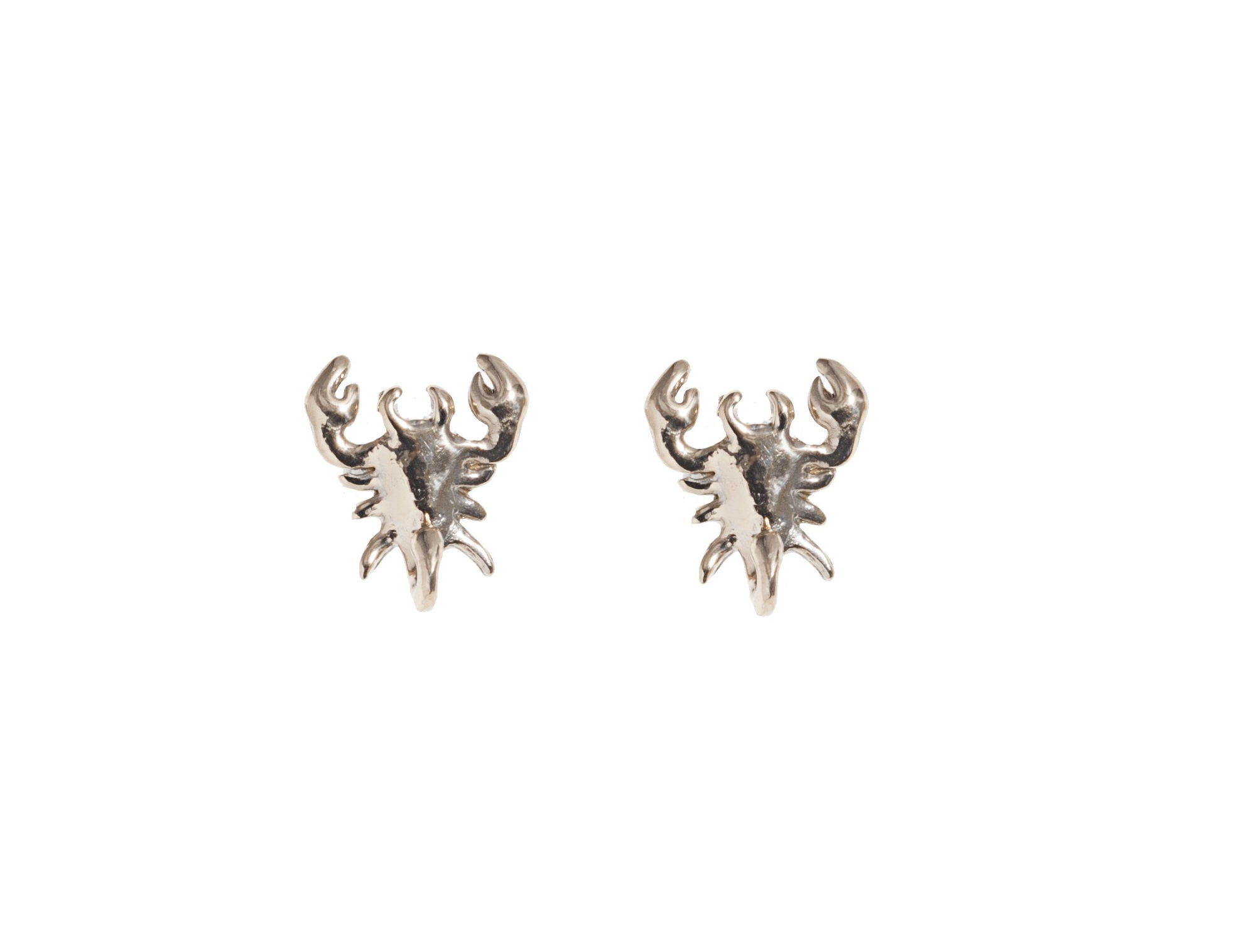 Small scorpio bronze earrings