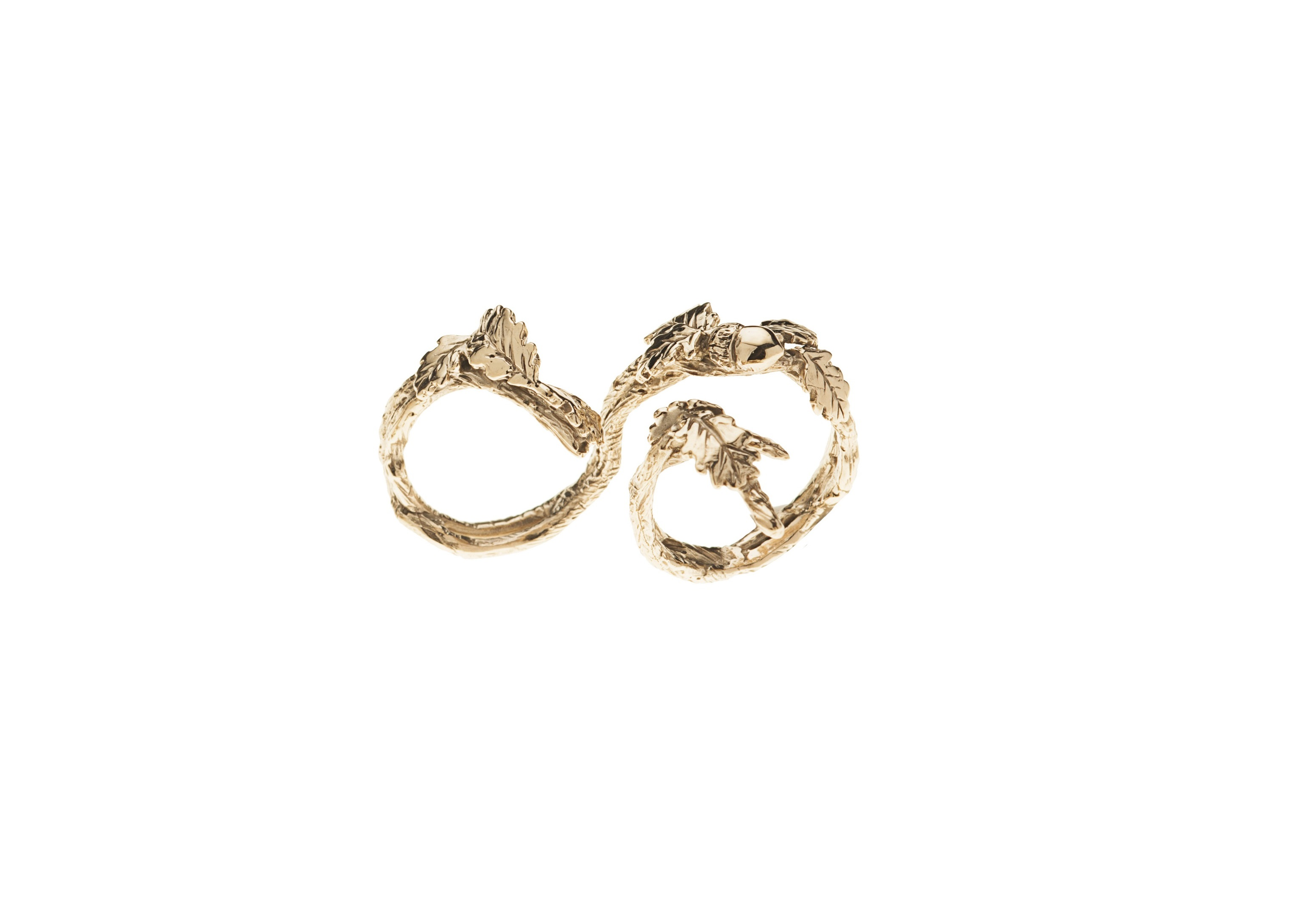 ring metallic gold jewelry lyst braided engagement in hardy normal john wrap gallery chain product rings classic bronze yellow