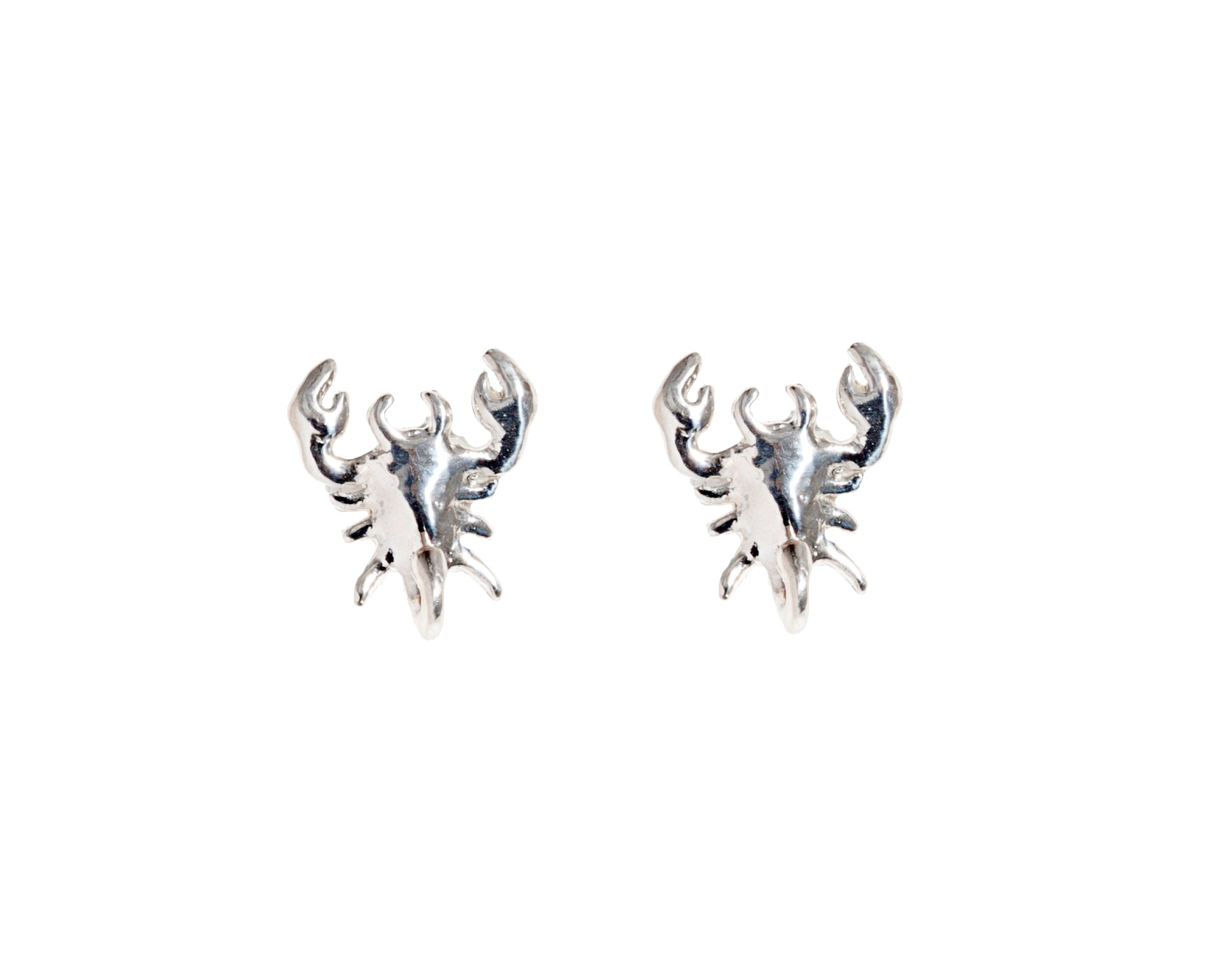 Small scorpio silver earrings