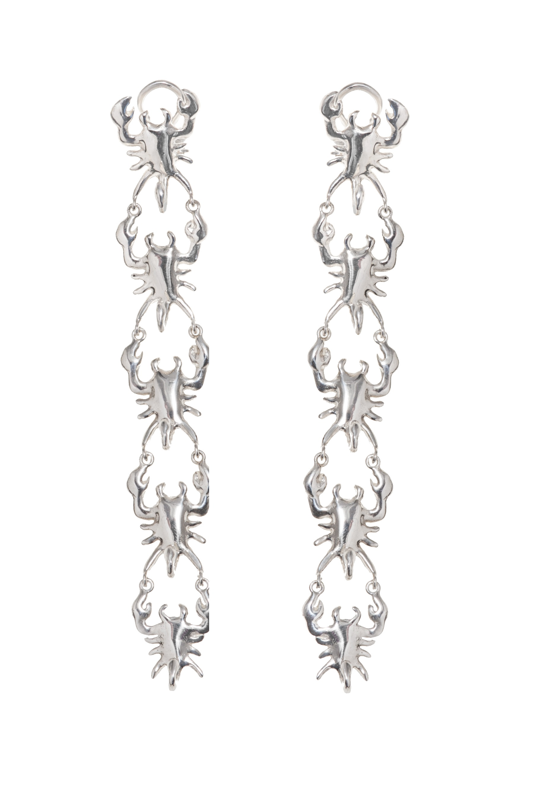 5 scorpios silver earrings