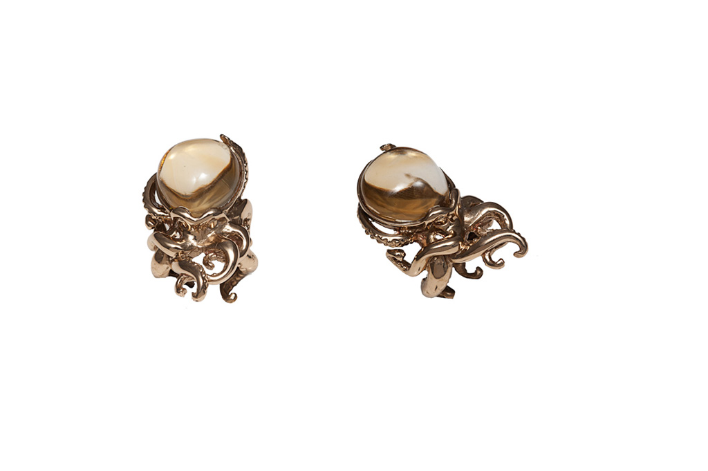 Octopus ring with citrine