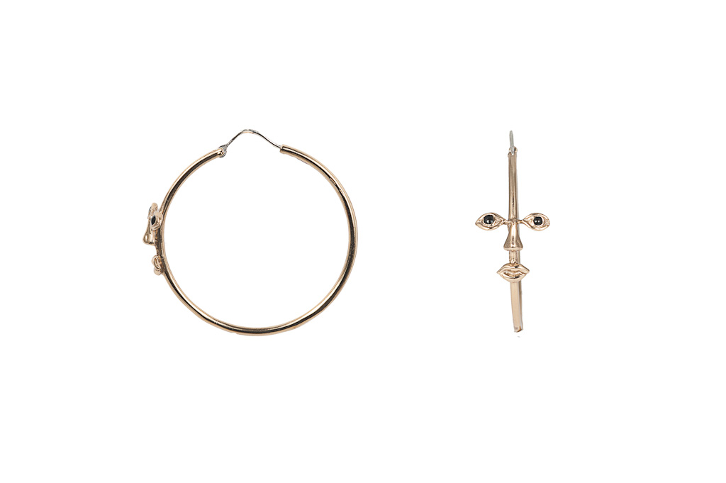 Osvaldo bronze hoop earrings