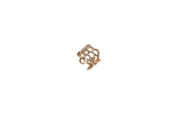 Bronze honey comb ring