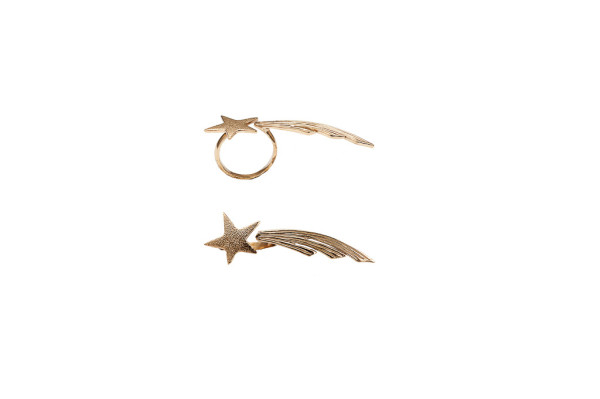 Bronze shooting star ring
