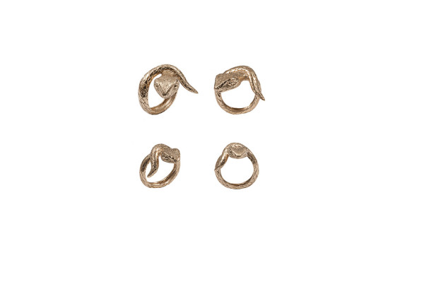 Small snake bronze ring / Big snake bronze ring