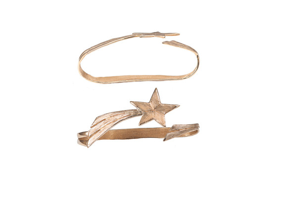 Bronze shooting star bronze hand bracelet