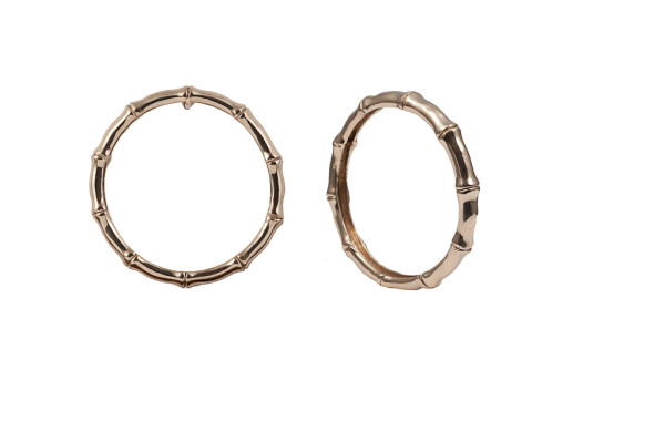 Bronze bamboo bangle