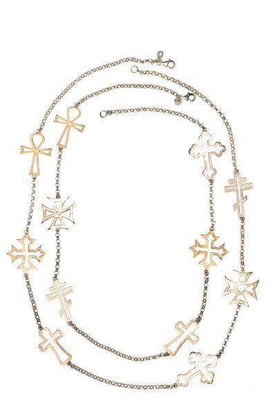 6 big crosses necklace - 80 cm / 6 big crosses necklace - 100 cm