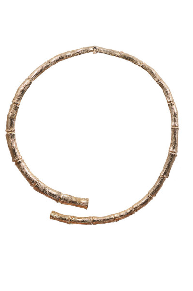 Brass bamboo necklace
