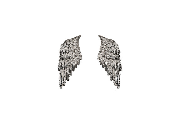 Silver wings earrings