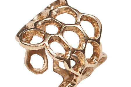 Bronze honeycomb ring