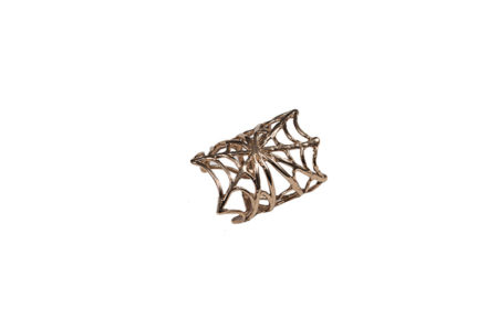 Bronze spiderweb ring