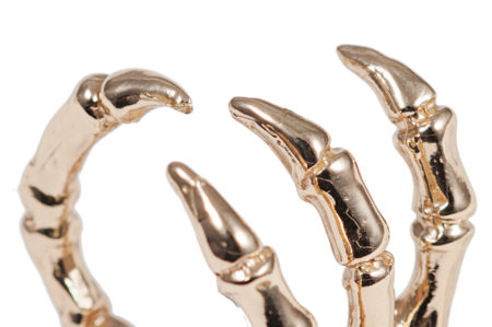 Bronze bird claw ring