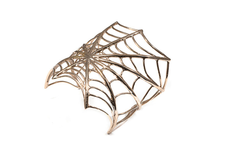 Bronze giant web cuff