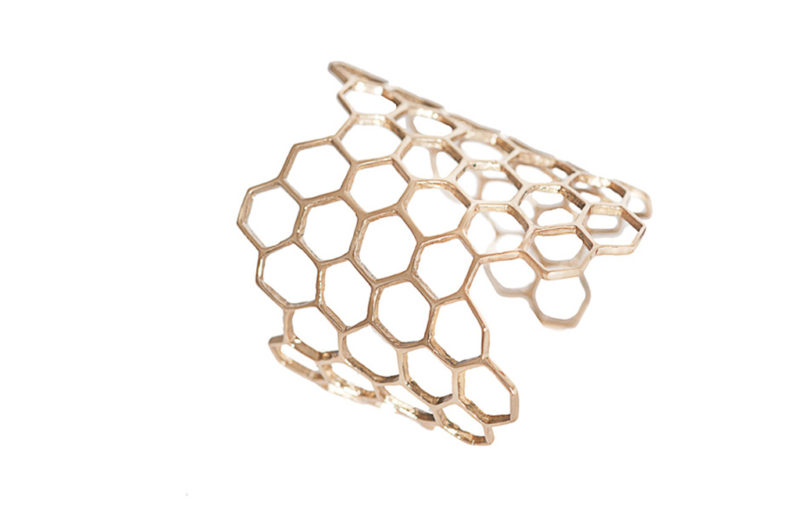 Bronze honey comb cuff