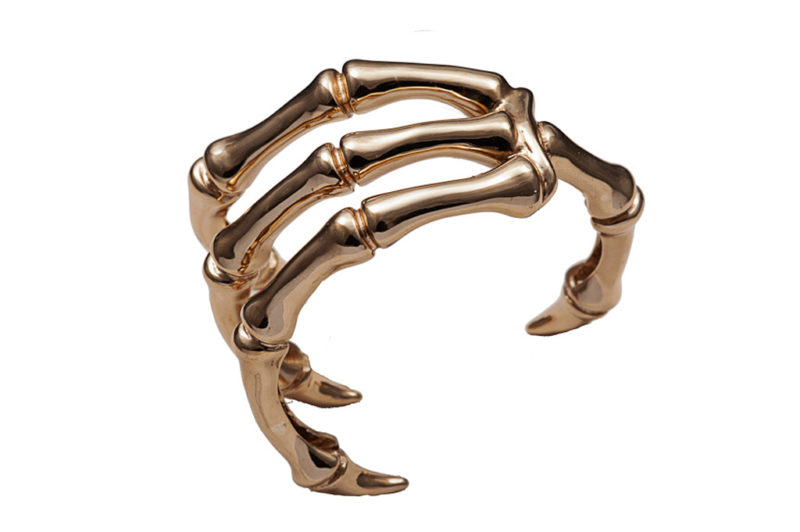 Bronze bird claw cuff