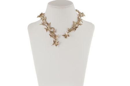 Brass Butterflies stiff necklace