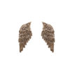 Bronze big wings earrings