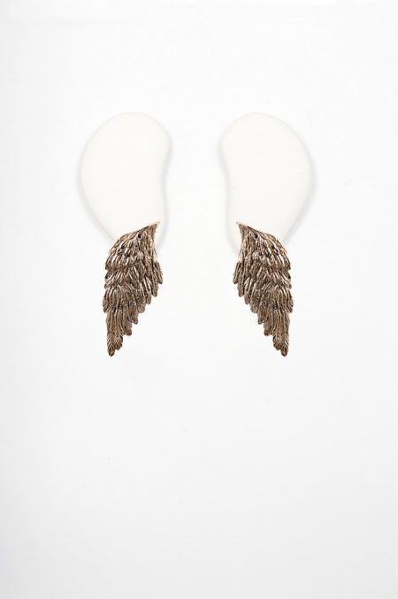 Bronze wings earrings