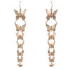 7 butterflies bronze earrings