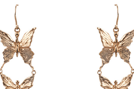 Bronze seven butterflies earrings