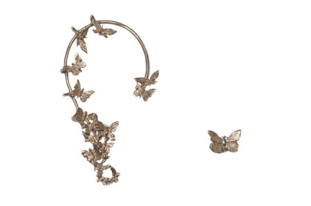 butterflies bronze ear cuff + 1 butterfly