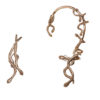 snakes bronze ear cuff + 2 snakes