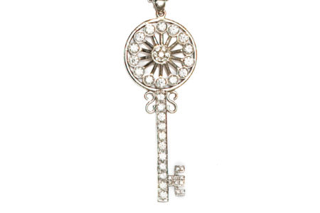 Round Key necklace, chain is included
