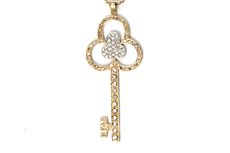 Flower Key necklace, chain is included