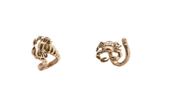 Bronze scorpio open ring