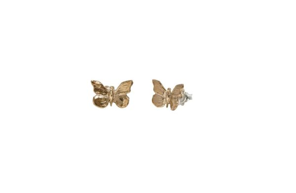 Mini butterflies bronze earrings