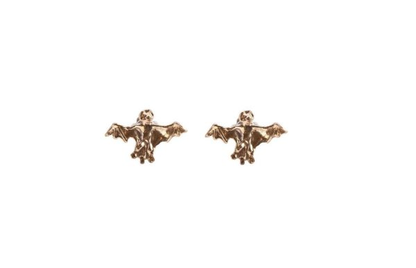 Bronze mini bats earrings