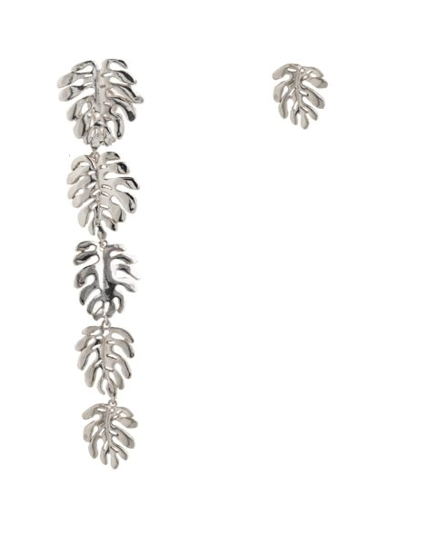 Silver 5 + 1 elephant ears leaves earrings