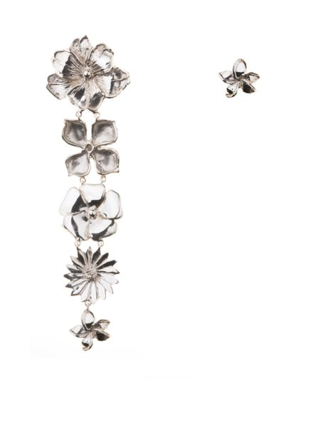 5 + 1 flowers silver earrings