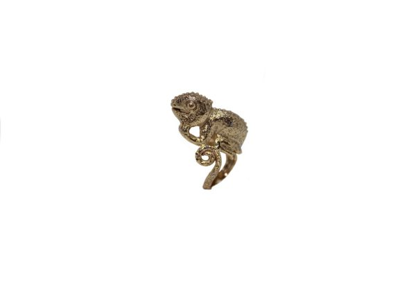 Chameleon bronze ring