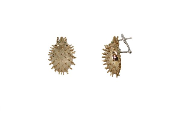 Bronze hedgehog earrings