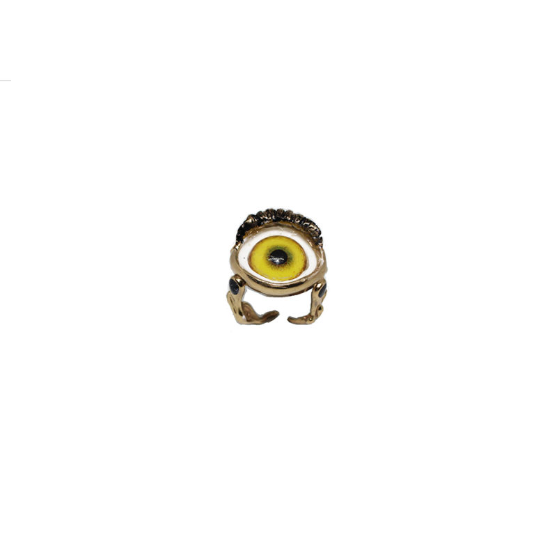 Bronze eye with lemon yellow ring