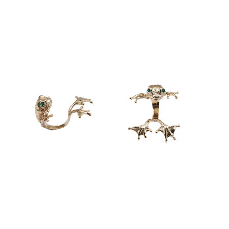 Bronze big paws frog ring