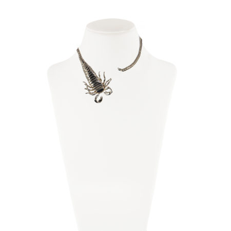 Brass scorpion stiff necklace