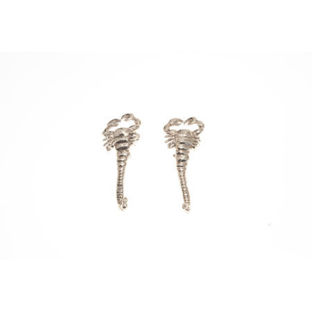 Big scorpio bronze earrings